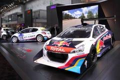 Peugeot 208 szczupaków Osiąga szczyt bieżnego samochód obrazy royalty free