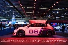Peugeot 308 tävlings- kopp på IAAEN 2015 Arkivbilder