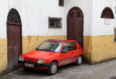 Peugeot 205 in Tanger, Morocco Royalty Free Stock Photos