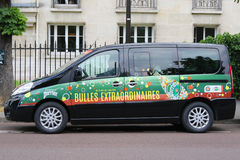 Peugeot van with Perrier logo at Le Stade Roland Garros in Paris Royalty Free Stock Photo
