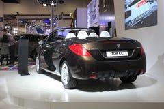 Peugeot vue arrière de 308 cc Image stock