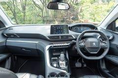 Peugeot 3008 2018 wnętrzy zdjęcie royalty free