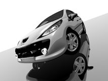 Peugeot207. The newest most popular peugeot 207 royalty free illustration
