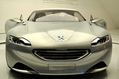 Peugeuot SR1-Silver. Car Showroom in Autoshow 2010 October Istanbul Cnr Expo. Peugeot SR1 royalty free stock image