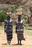 Peul Girls in Dogon country, central Mali. Girls with traditional items, of Peul tribe Royalty Free Stock Photo