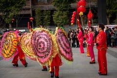 Peuple chinois de coutume folklorique dans la ville de Wuhan, porcelaine images libres de droits