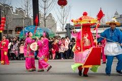 Peuple chinois de coutume folklorique dans la ville de Wuhan, porcelaine photo libre de droits