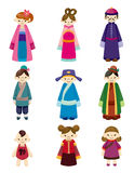 Peuple chinois de positionnement de graphisme de dessin animé Photo stock