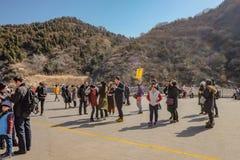 Peuple chinois ou touriste Unacquainted marchant dans la Grande Muraille de la Chine à la ville de Pékin Grande Muraille de la Ch photos stock