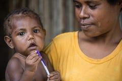 Peuple de la Papouasie-Nouvelle-Guinée Images libres de droits