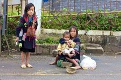 Peuple de minorité de h'Mong Ehtnic du Vietnam Photos libres de droits
