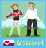 Peuple du Groenland Photo libre de droits