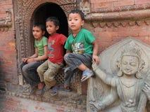 Peuple du Népal Photos libres de droits