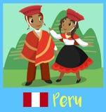Peuple du Pérou Images libres de droits