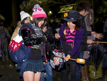 Peuple japonais d'an neuf de purification de la veille Photos stock