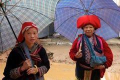 Peuple rouge de minorité de Dao Ehtnic du Vietnam Image libre de droits