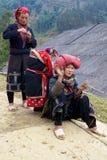 Peuple rouge de minorité de Dao Ehtnic du Vietnam Image stock