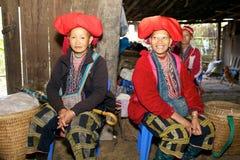 Peuple rouge de minorité de Dao Ehtnic du Vietnam Images stock
