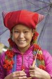 Peuple rouge de minorité de Dao Ehtnic du Vietnam Photos libres de droits