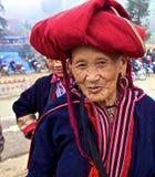 Peuple rouge de minorité ethnique de Dao du Vietnam Photos libres de droits