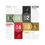 Quatre parts de calibre de conception Image libre de droits