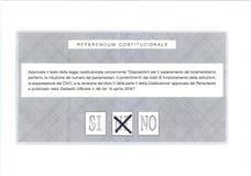 PEUT-ÊTRE vote sur le bulletin de vote italien Photo libre de droits
