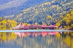 Peut 0102-12 château de lac trois valley image libre de droits