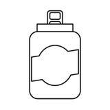 peut l'icône d'isolement par boisson Images stock
