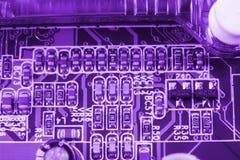 Peut utiliser comme fond Technologie de matériel informatique électronique Puce numérique de carte mère Fond de la science de tec Image libre de droits