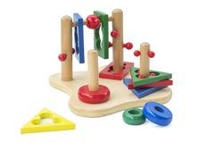 Peuter houten stuk speelgoed Stock Fotografie