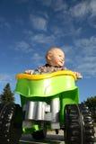 Peuter op een stuk speelgoed ATV royalty-vrije stock foto