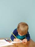Peuteronderwijs: Kindtekening stock afbeeldingen