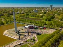 9 peuvent célébration à Riga, Lettonie Jour de victoire Photos libres de droits