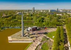 9 peuvent célébration à Riga, Lettonie Jour de victoire Photos stock
