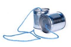 Peuvent les téléphones Photo stock