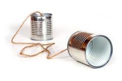 Peuvent les téléphones Image stock