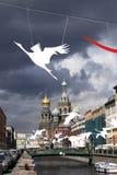 2017 peuvent 9, Victory Day Remblai de canal de Griboyedov, St Petersbourg, Russie Photographie stock libre de droits