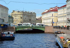 The Pevchesky Bridge in Saint-Petersburg. Russia Royalty Free Stock Photography