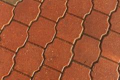 Pevement bagnato arancio Fotografie Stock Libere da Diritti