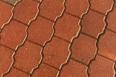 Pevement mojado anaranjado Fotos de archivo libres de regalías
