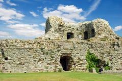 Pevensey castle ruins pevensey england Stock Photography