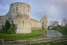 Free Pevensey Castle Ruins, Sussex, UK Royalty Free Stock Images - 106018389