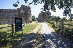 Pevensey kasztel, Wschodni Sussex, Anglia zdjęcie royalty free