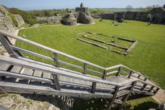 Pevensey-Schloss in Ost-Sussex lizenzfreies stockfoto