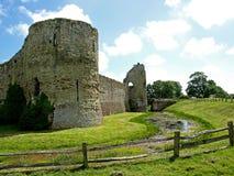 Pevensey slott Arkivbild