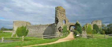 Pevensey slott arkivfoton