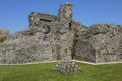 Pevensy slott i östliga Sussex royaltyfria foton