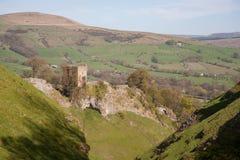 Peveril城堡在高峰区 免版税库存图片