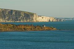 Peveril Point and Old Harry Rocks, Dorset Royalty Free Stock Photography