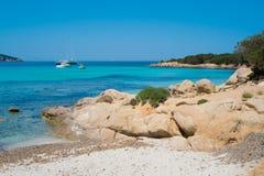 Pevero海滩 库存照片